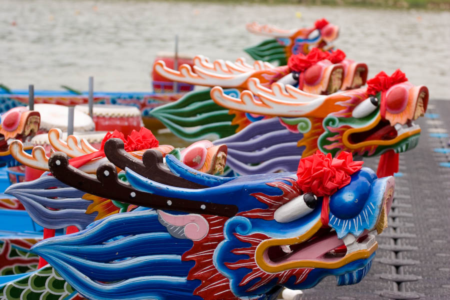 Chinese festival-The Dragon Boat -龙舟(lónɡzhōu)