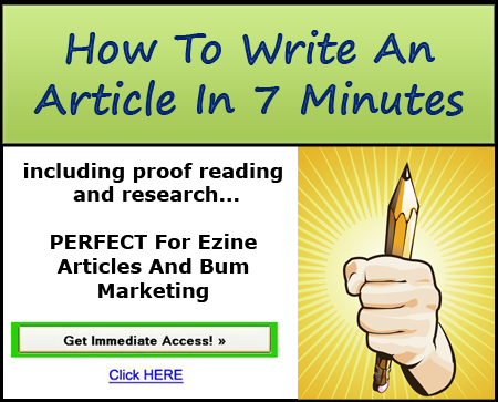 How write a article